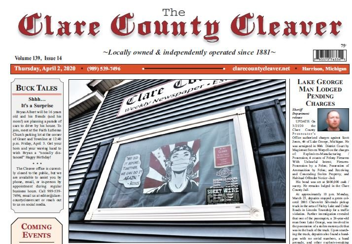 Grab this week's edition of the Clare County Cleaver, available tomorrow morning.