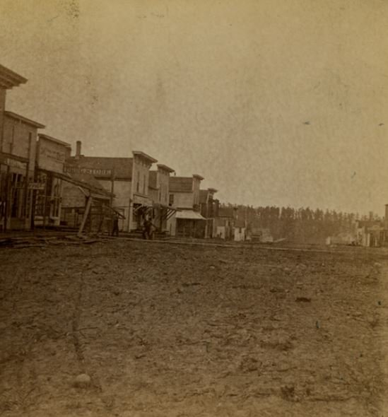 Downtown Harrison Michigan in the early 1880s