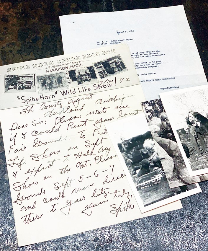 Items found at the Midland County Road Commission donated to the Clare County Historical Society.