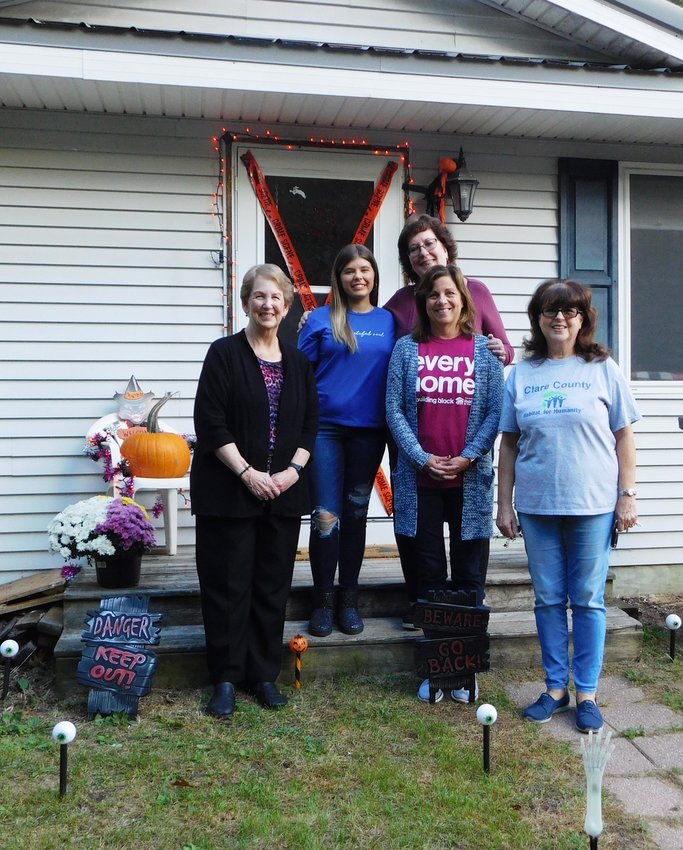 Pictured at the Oct. 5 Habitat for Humanity home dedication are, from left, Sherry Combs, director; homeowner Lindsey Campbell; Carey Harris, executive director; Sandy Loomis, president; and Valerie Nielsen, treasurer.