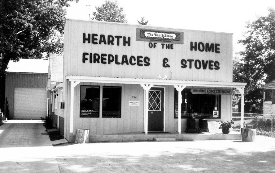 The Hearth of the Home Shop before the west side addition. The original structure is more than 100 years old.