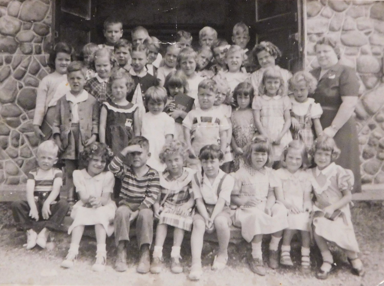Bible school class at Skeels Bible School 1951taught by Mrs. Anderson.