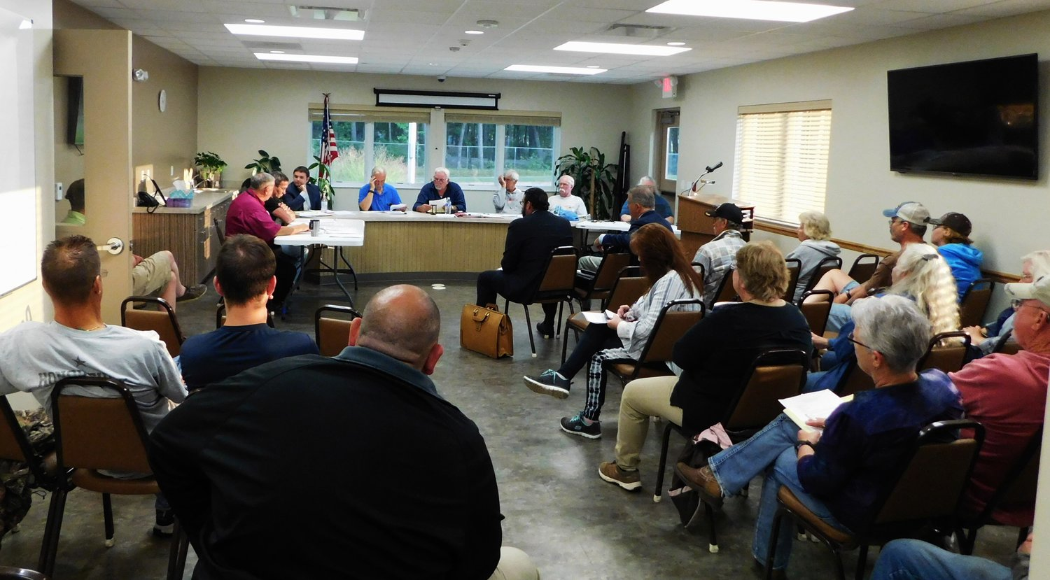 Hayes Township residents filled the board room during a Sept. 9 public hearing and special meeting of the Hayes Township Planning Commission, called for the purpose of adoption of the revised/amended 2019 Township Zoning Ordinances.