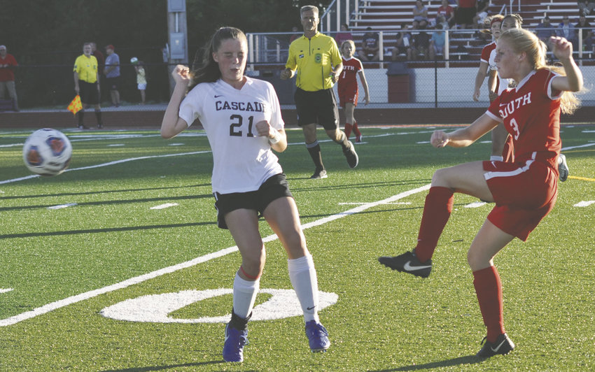Southmont sophomore Hanna Nichols contributed an assist in the Mountie's 3-0 win over Cascade on Monday.