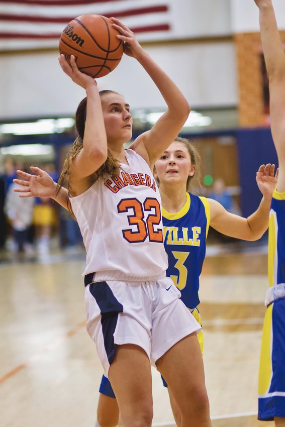 North Montgomery senior Emily Sennett returns as the Chargers top scorer from a year ago at 6.9 points per game.