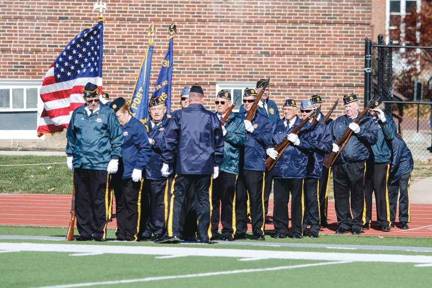 American Legion Byron Cox Post No. 72 provided the Color Guard for the Little Giants final home game in honor of Veterans Day.
