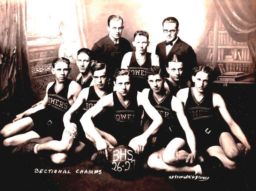 Bowers won their only basketball sectional in 1927. The first team outside of Crawfordsville and Wingate to win the Crawfordsville Sectional.