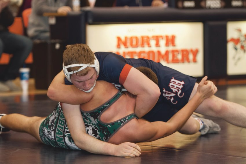 North Montgomery senior Drew Webster enters the season ranked No. 1 in the state at 220 pounds.