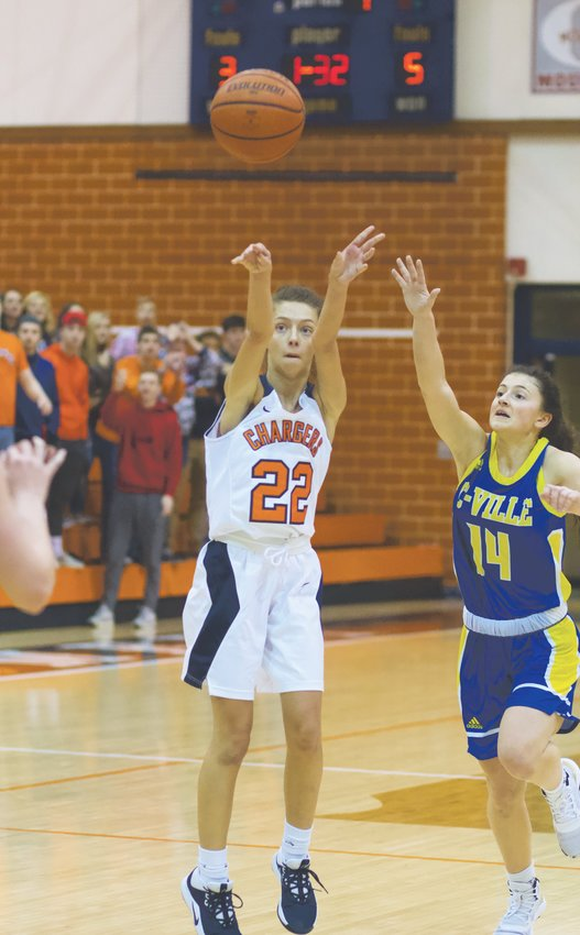 North Montgomery's Maddie Moseley led the Chargers past the Athenians in the consolation game with 13 points.