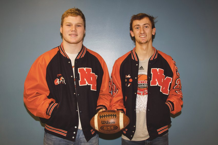 North Montgomery seniors Kade Kobel and Drew Webster earned Co-Player of the Year honors for the 2019 football season.