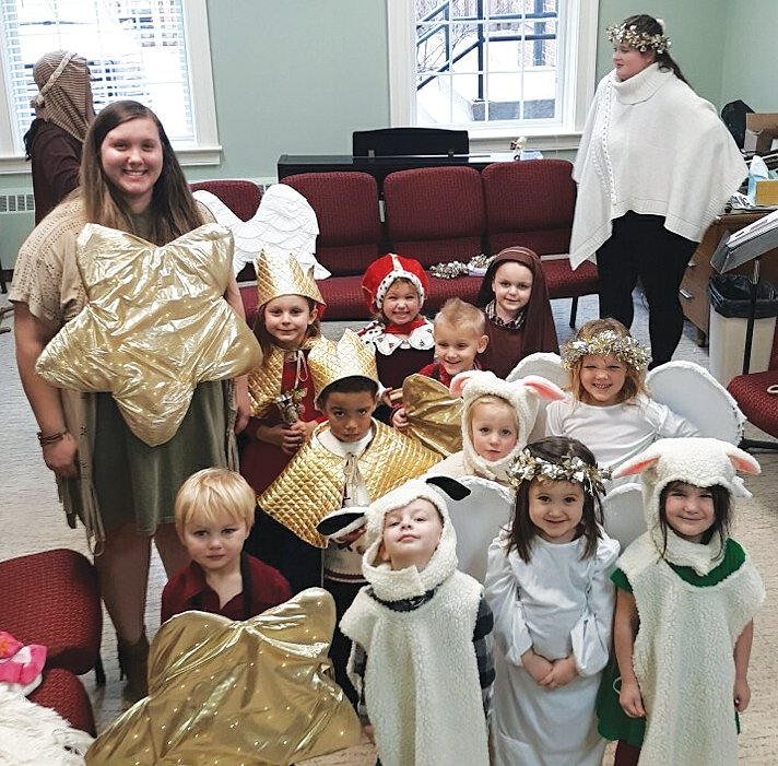 Rainbows and Rhymes Preschool brought in the holiday spirit with their annual Christmas program. The program included Christmas songs, a live nativity, and a visit from a special guest, Santa, along with plenty of Christmas cookies!