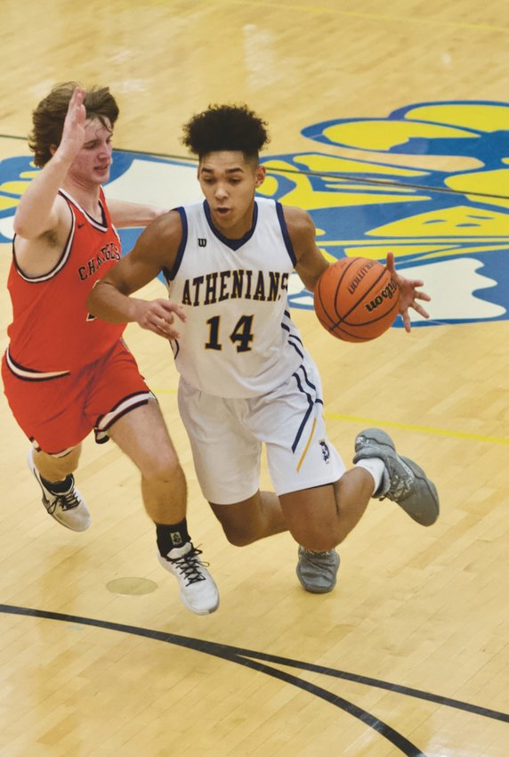 Crawfordsville's Jesse Hall led the Athenians with 18 points and 13 rebounds in the 45-38 win over North Montgomery.