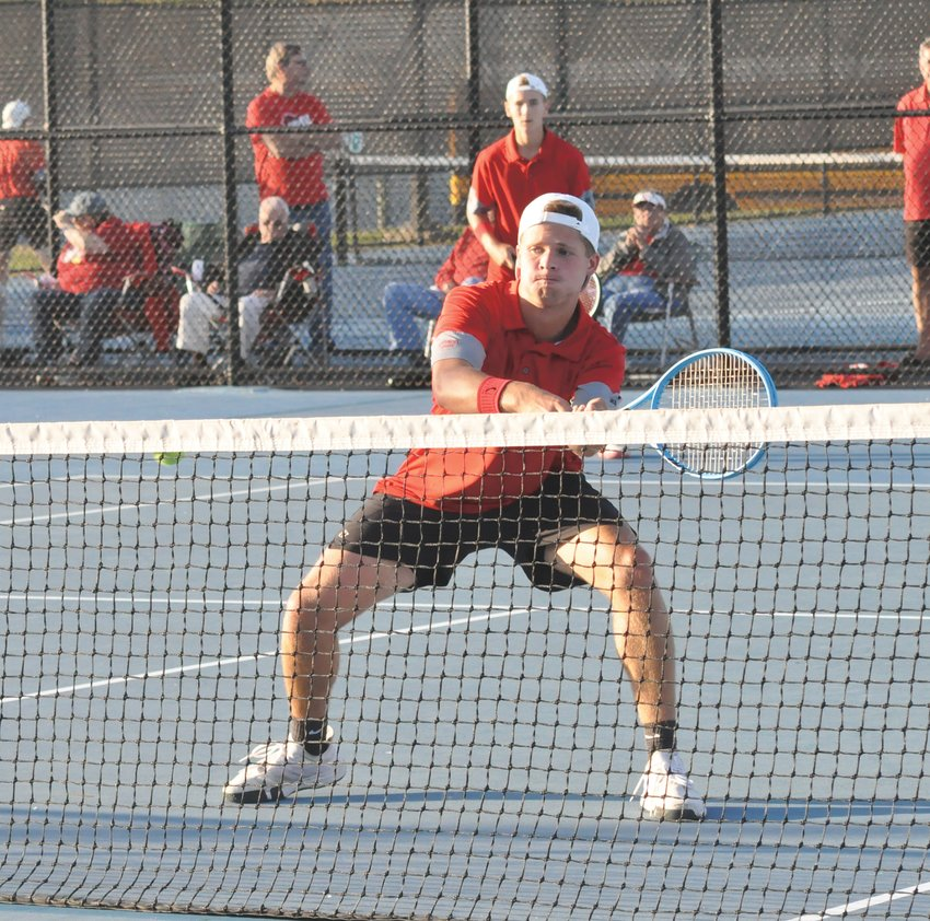 Southmont's Reese Long and Micah Korhorn helped the Mounties to a sectional title last fall.