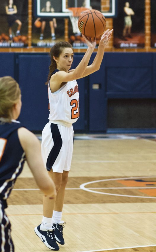 North Montgomery's Maddie Moseley buried a trio of 3-pointers to lead the Chargers with 11 points in their 56-34 loss to North Putnam.