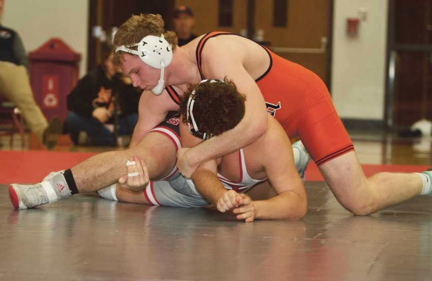 North Montgomery's Drew Webster will look to defend his 220-pound Sagamore Conference title on Saturday.
