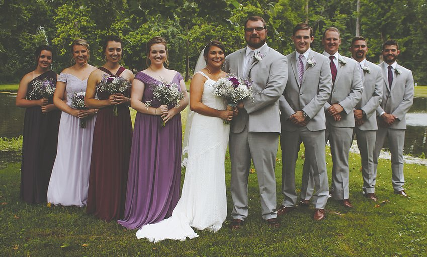 Brennan Kaylee Pool and Matthew Todd Reynolds, Crawfordsville, exchanged wedding vows July 6 at the Crawfordsville Country Club.