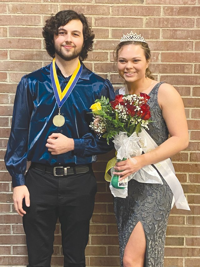 Avery Walls, left, and Alexis Griffin were named Winter Homecoming King and Queen on Friday at Fountain Central High School.