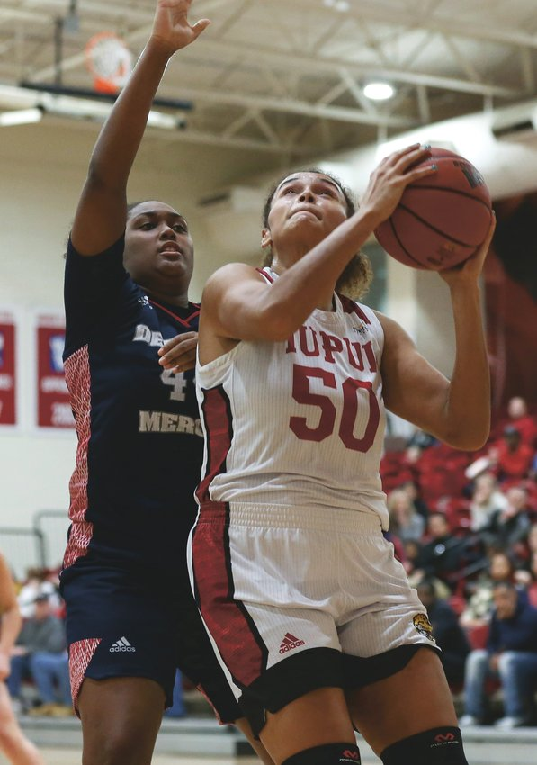 Macee Williams is averaging 16 points and 9 rebounds a game for IUPUI.