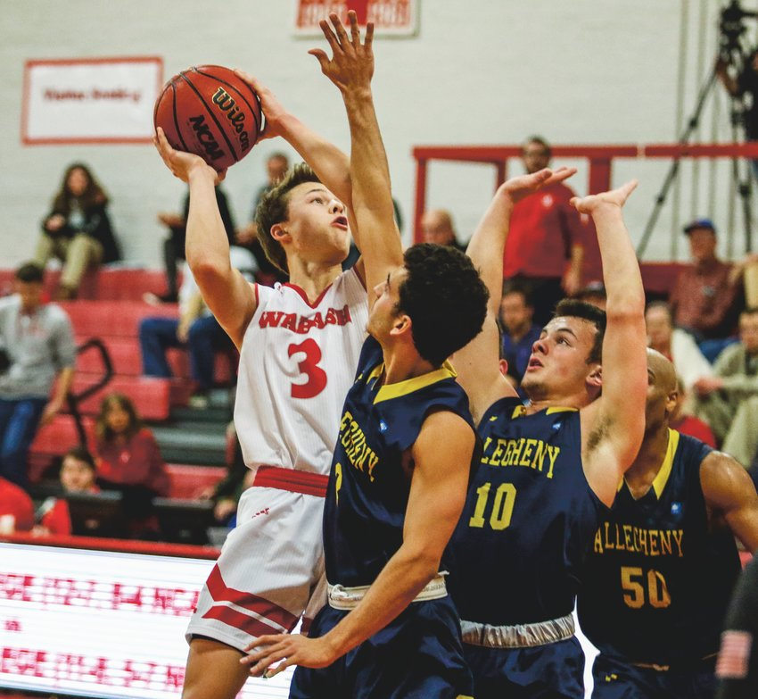 Wabash guard Jack Davidson led the Little Giants to a win over Allegheny with a game-high 30 points. The junior also moved past the 1500-point barrier in the win.
