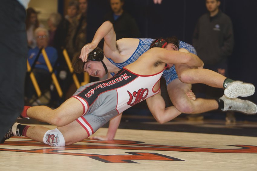 Southmont's Riley Woodall competes in the regional round last season of the IHSAA state tournament. Woodall and his teammates dominated North Putnam on Tuesday night.