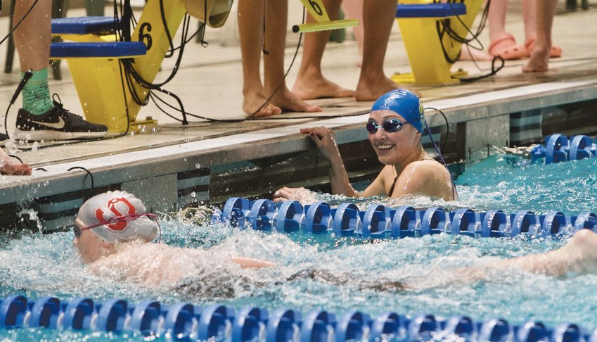 It's settling in for Crawfordsville's Alyx Bannon that she won the 100 freestyle.