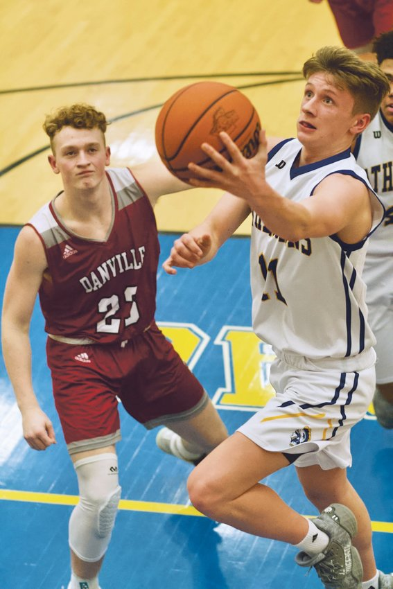 Crawfordsville's Karsten Williamson scored 11 points on senior night in a 83-52 loss to Danville.