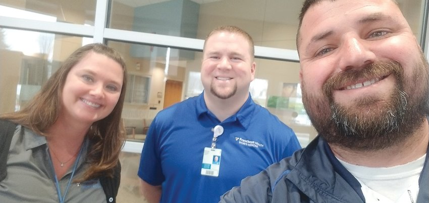 Athletic trainers from area schools, Kimm Chadd, Doug Horton and Isaac Hook, are now helping hospitals during the COVID-19 pandemic.