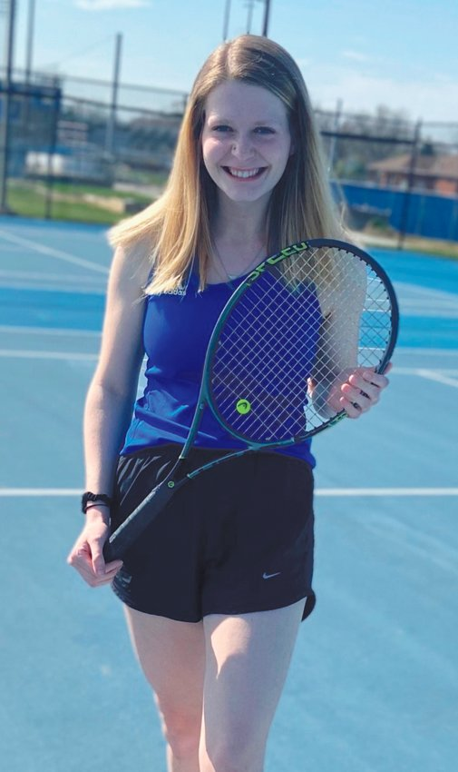 Crawfordsville tennis player Savannah Faith Galbert. Faith's parents are Kara and Frank Galbert. She is headed to Boston University next fall to study Journalism. I know the coaches were expecting big things from Faith this year