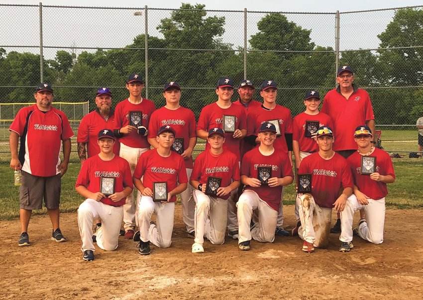 The 14U Indiana Thunder travel baseball team finished second in a tourney in Cicero, Indiana the last weekend of June.