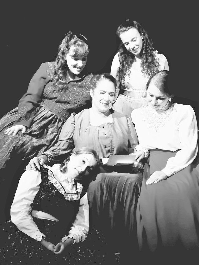 Little Women cast meembers are Lauren Morgan, Lyndsay Crescenti, Melina Smart, Hannah Rose Rivette and Holly Hathaway Thompson..