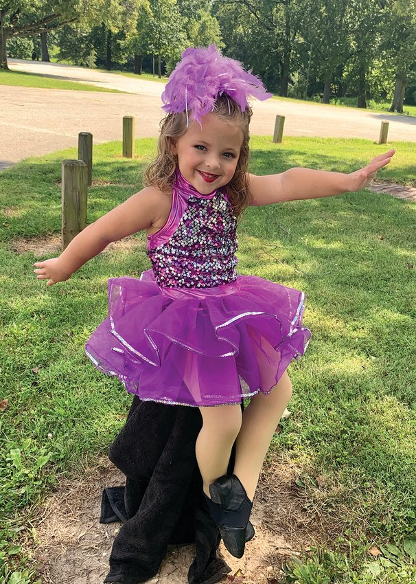 Charlie Cosby, 4, poses for a photo before a dance recital at Milligan Park on Sunday, Aug. 16. A video posted to social media giant TikTok has been viewed nearly 5 million times online.