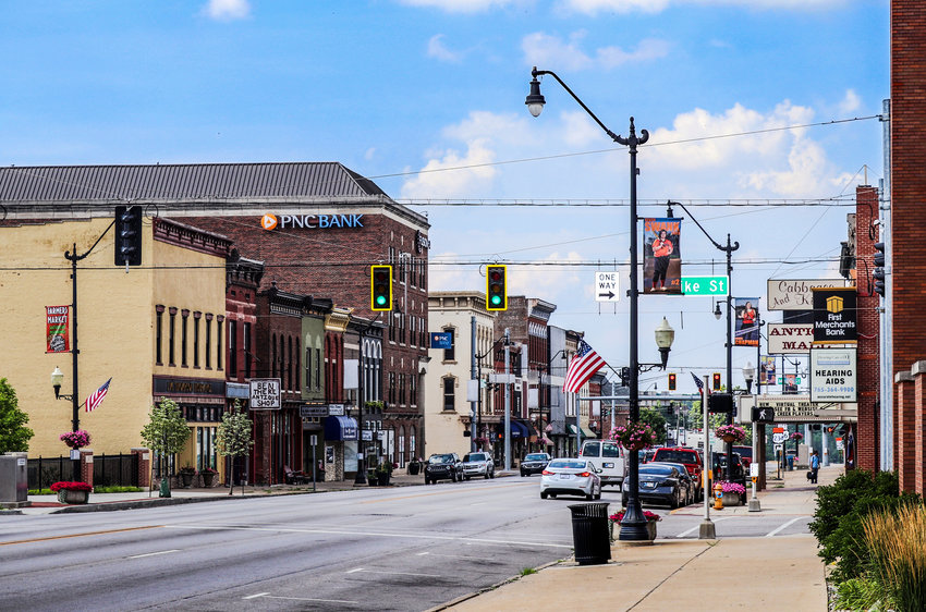 Crawfordsville Main Street organization was awarded funding through a new initiative to provide operational support amid the COVID-19 pandemic. The financial boost will help promote the city's historic downtown. This is Washington Street facing north near the Pike Street intersection.