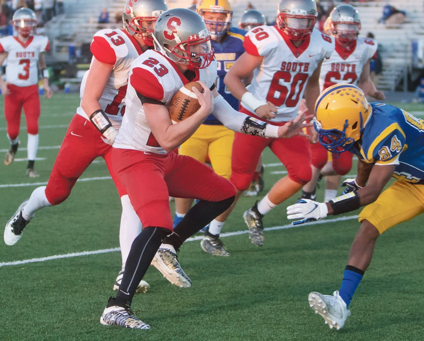 Southmont's Carson Chadd led the Mounties with 168 rushing yards and two scores in a 30-24 win over Crawfordsville on Friday.