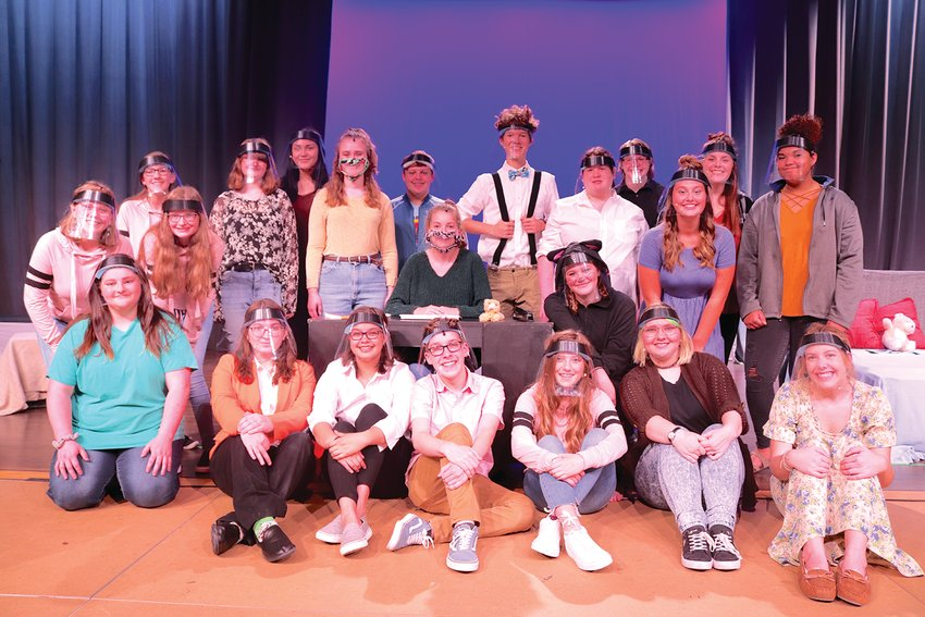 "The NMHS Theatre Troupe is in costume and ready for a final rehearsal Thursday afternoon. Cast members pictured, in no particular order, include Alecsandra Baldwin, Emerson Boaz, Cassie Bone, Jackie Carlisle, Miranda Crowe, Jordan Crull, Joy Davis, Lily Dockins, Aavree Doughty, Sam Douma, Rylan Dowell, Abi Eutsler, Haley Evans, Harmon Hann, Shelby Kammerer, Rylie Koopman, Sophie Morris, Liberty Owens, Ali Roche, Katherine Stafford, Kyla Turnbloom, Cameron Tyo, Natalie Walker, Kendall Williamson, Teegan Bacon, Claire Bonwell, Ben Eldridge, Zack Hall, Meagon Lyon, Lilly McKinniss and Bryce Sommer. The play, titled ""The Internet is Dist -- OH LOOK A KITTEN"" premiers tonight and runs through Sunday."