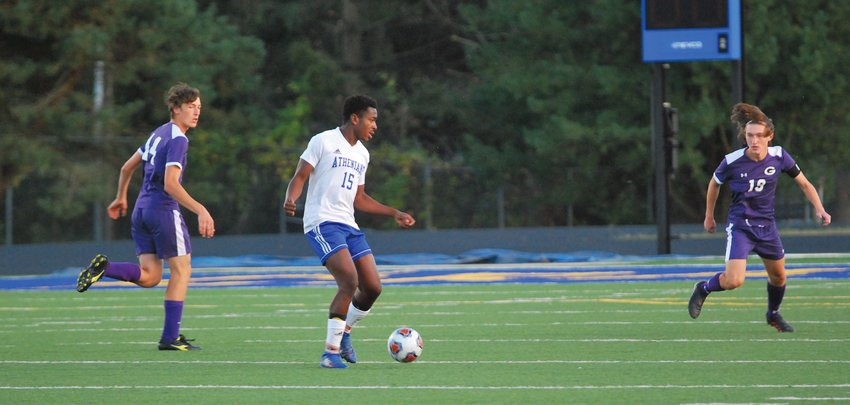Crawfordsville's Emmett Bowman led the Athenians with two goals in a 4-2 sectional win over Greencastle on Tuesday.