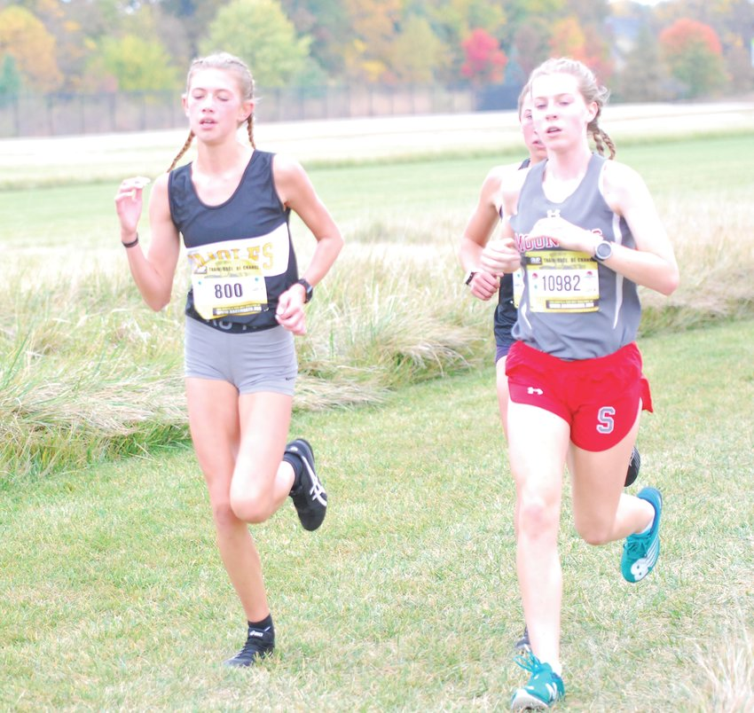 Southmont's Faith Allen paced the pack with Avon's Jessica Hegedus and sectional champion Brownsburg's Abigail Lynch. Allen was second in a time of 19:03.
