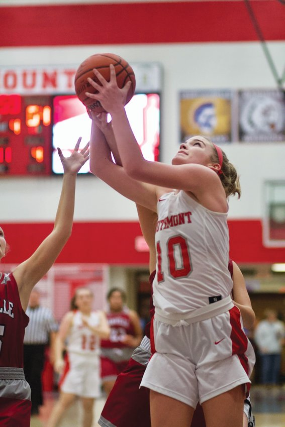 Southmont's Sidney Veatch returns a double-double average for the Mounties this season.