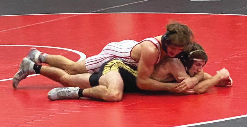 Southmont's Dillan Lauy defeated Lebanon's Jeremy Mullins by pin on Saturday.