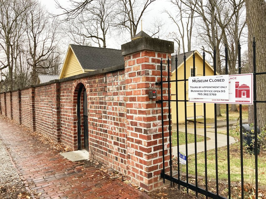 A section of the brick wall surrounding the grounds of the General Lew Wallace Study & Museum further down Elston Street will be restored in a project funded by local citizens and the Montgomery County Community Foundation.