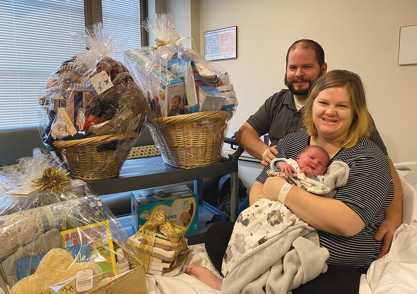 Elizabeth and Gabe Gohier, Advance, delivered the first baby of the new year at Witham Health Services, Lebanon. Mathieu Alexandre Gohier was born at 3:03 p.m. Friday. At birth, he weighed 9 pounds, 13 ounces.
