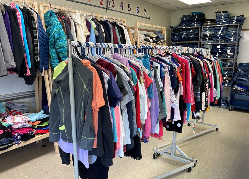 There is plenty of items to choose from for Fountain Central students in need at the Mustang Mall.