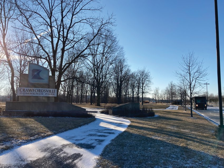 The Crawfordsville Commerce Park, shown here Thursday, will be full if the city successfully lands new projects in the works, Mayor Todd Barton said in his State of the City address.