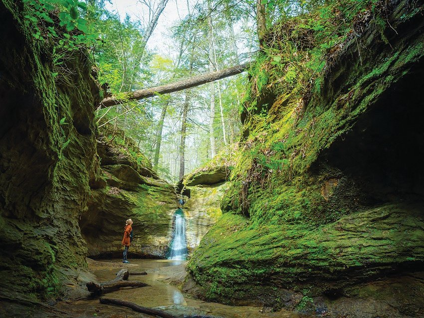 Pictured is Rocky Hollow-Falls Canyon Nature Preserve at Turkey Run State Park.