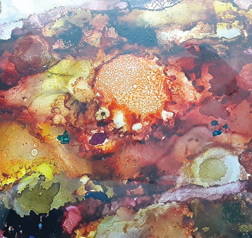 Ellie Dieckmeyer introduces tips, trick and techniques on how to use alcohol inks during a class slated for April 8 at Athens Arts Gallery.