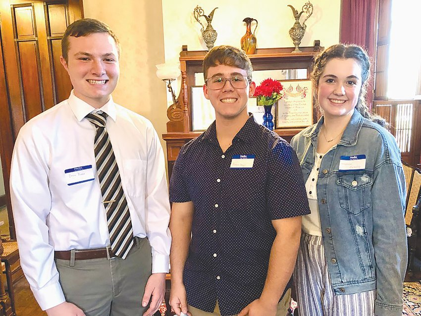 Good Citizen award winners are, from left, Drew Runyan of North Montgomery High School, Keegan Abney of Crawfordsville High School and Madison Livesay of Southmont High School.