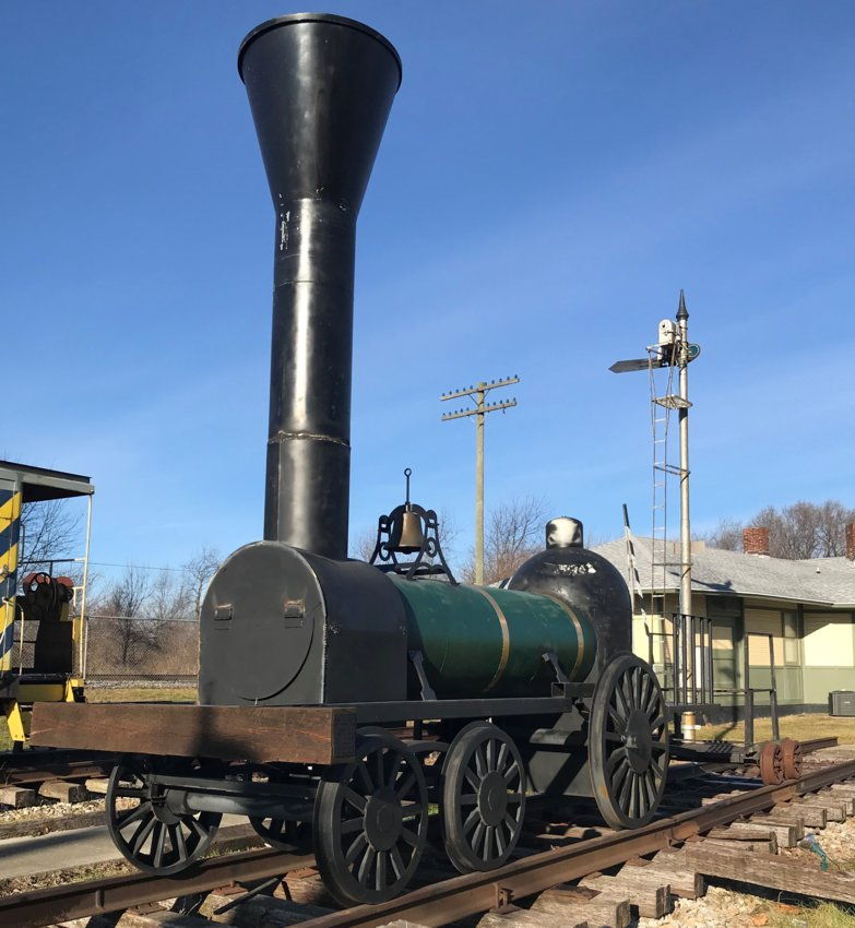 The 1837 Norris 4-2-0 steam engine, tender and passenger coach are on display at the Linden Depot Museum, which opens for the season Friday.