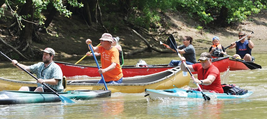Recreational racers leave the start line of the Friends of Sugar Creek race in 2018. The event is scheduled to return May 15 after a two-year absence.