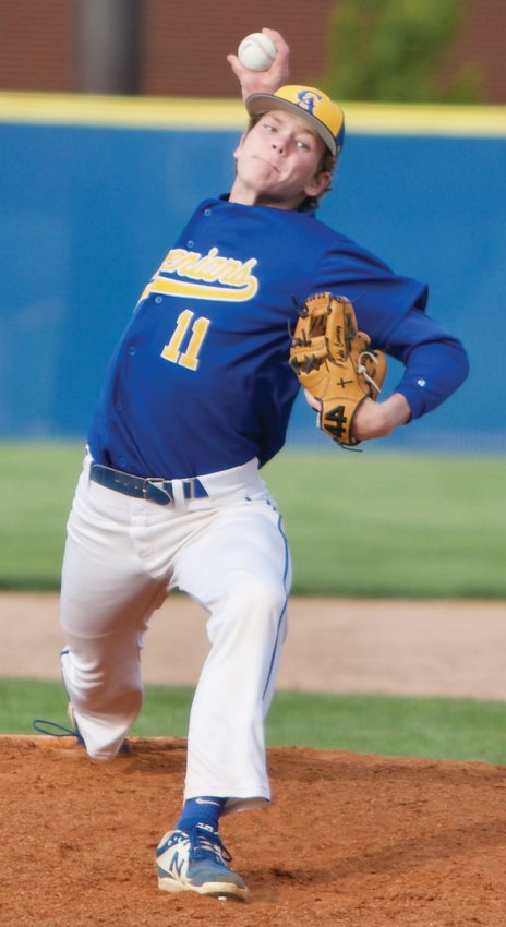 Crawfordsville's Cale Coursey dominated North Montgomery hitters on Tuesday night. The Athenian sophomore struck-out 10 hitters, allowing just three hits.