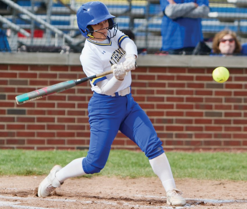 Crawfordsville senior Allyson Barton was 5-for-5 with a home run and seven runs driven in, helping the Athenians defeat North Montgomery 20-10 on Tuesday.