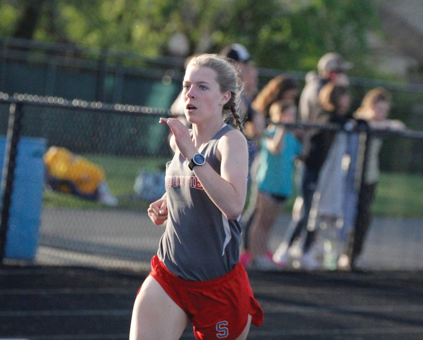 Southmont sophomore Faith Allen competes at the Sagamore Conference meet earlier this season.